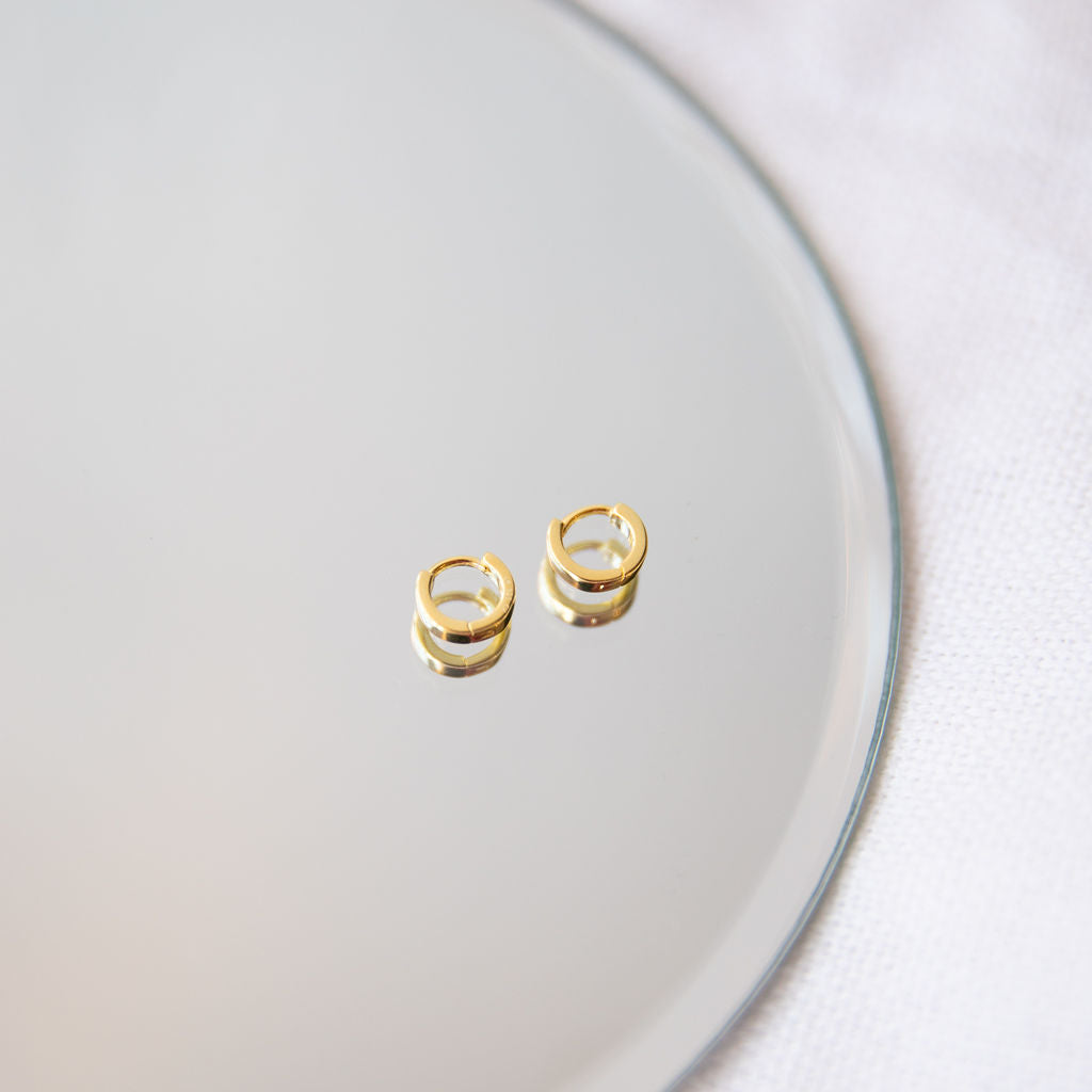 Delphine Chunky Huggie Earrings - She's Unique Jewelry