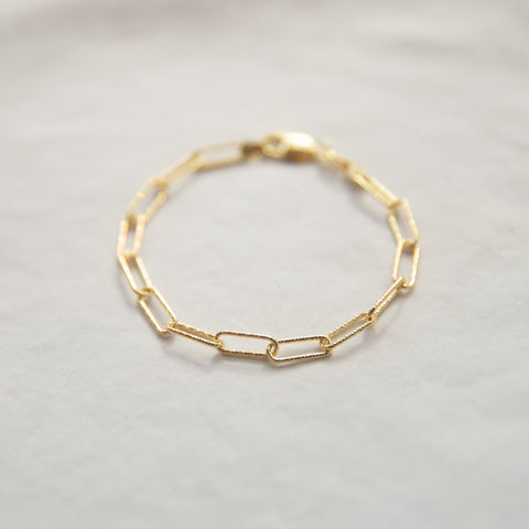 Diamond Cut Links Bracelet