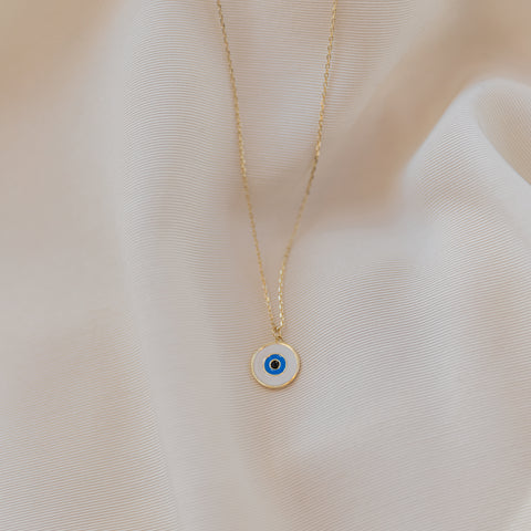 Ariana Round Eye Necklace - She's Unique Jewelry
