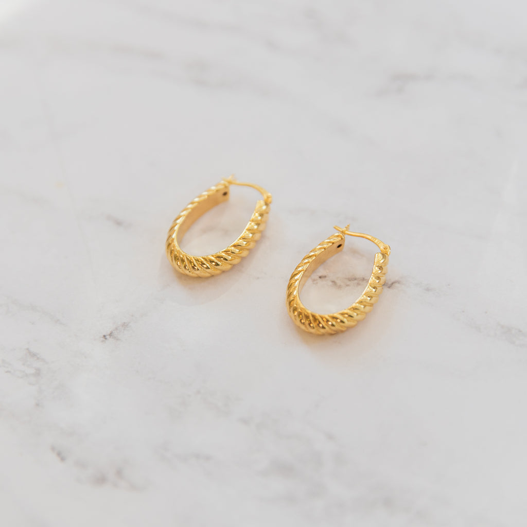 Croissant Hoop Earrings - She's Unique Jewelry