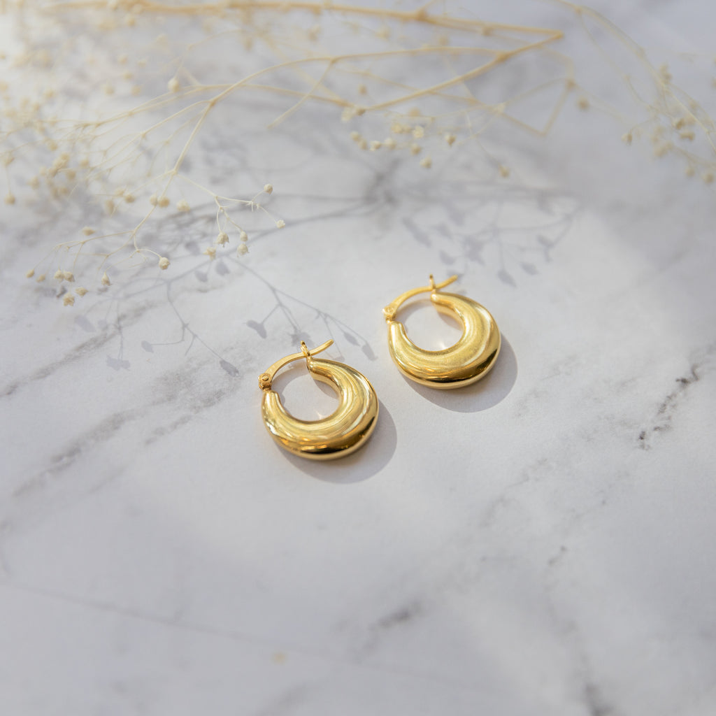 Dome Hoop Earrings - She's Unique Jewelry