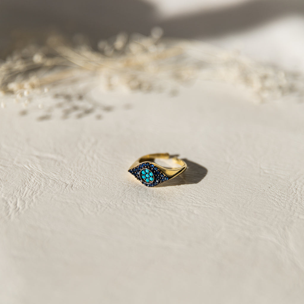 Blues Eye Ring - She's Unique Jewelry