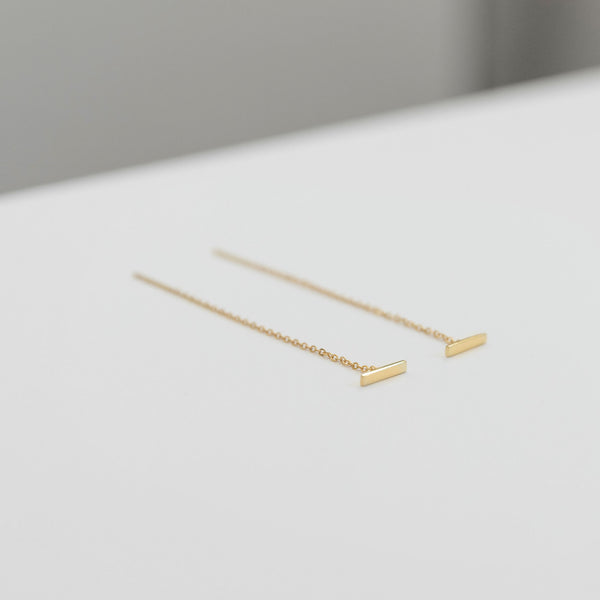 Bar Chain Threader Earrings
