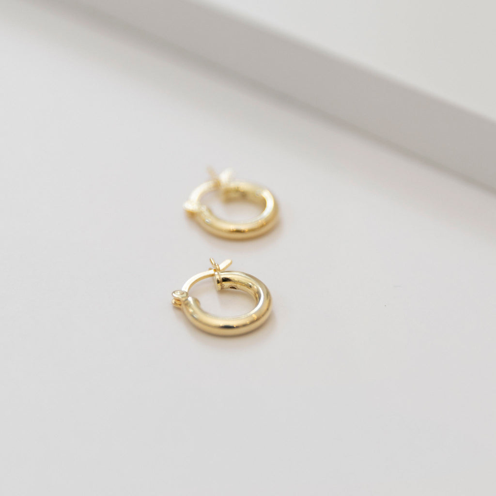 Mini Gold Hoops - She's Unique Jewelry