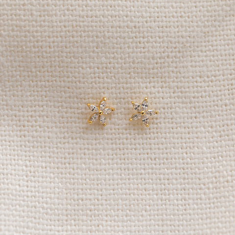 Flower Stud Earrings - She's Unique Jewelry