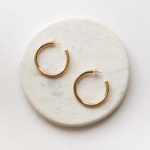 Mel Large Hoop Earrings - She's Unique Jewelry