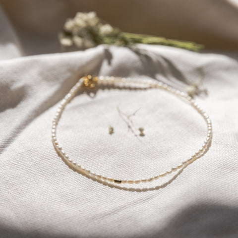 Delicate Pearl Choker Necklace - She's Unique Jewelry
