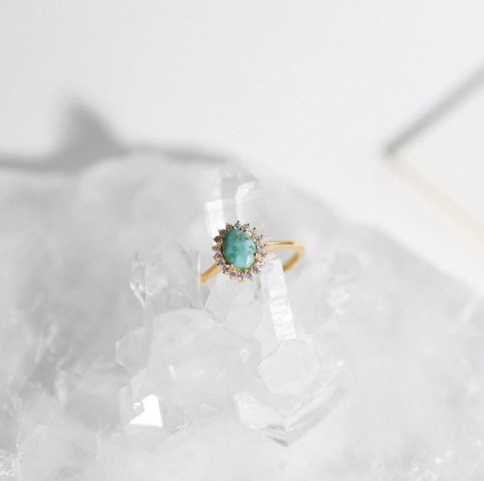 Mini Antiquity Ring | Turquoise - She's Unique Jewelry