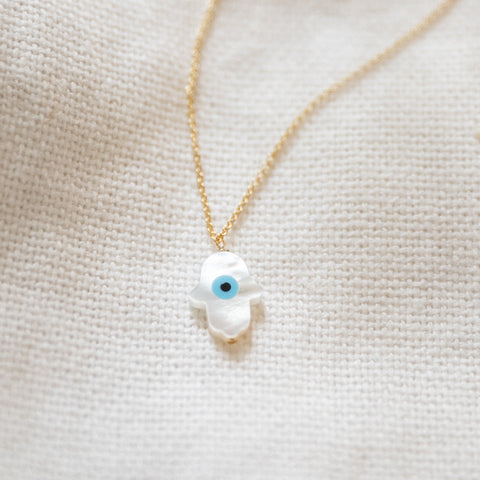 Soteria Hamsa Necklace | MOP - She's Unique Jewelry