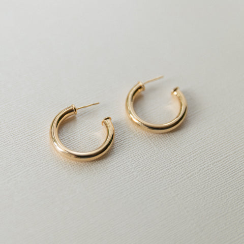 Cleo Thick Hoop Earrings | Medium - She's Unique Jewelry