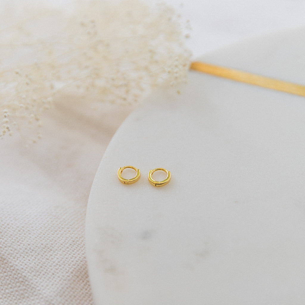 Tiny Huggie Hoop Earrings - She's Unique Jewelry