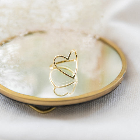 Open Heart Ring | Large - She's Unique Jewelry