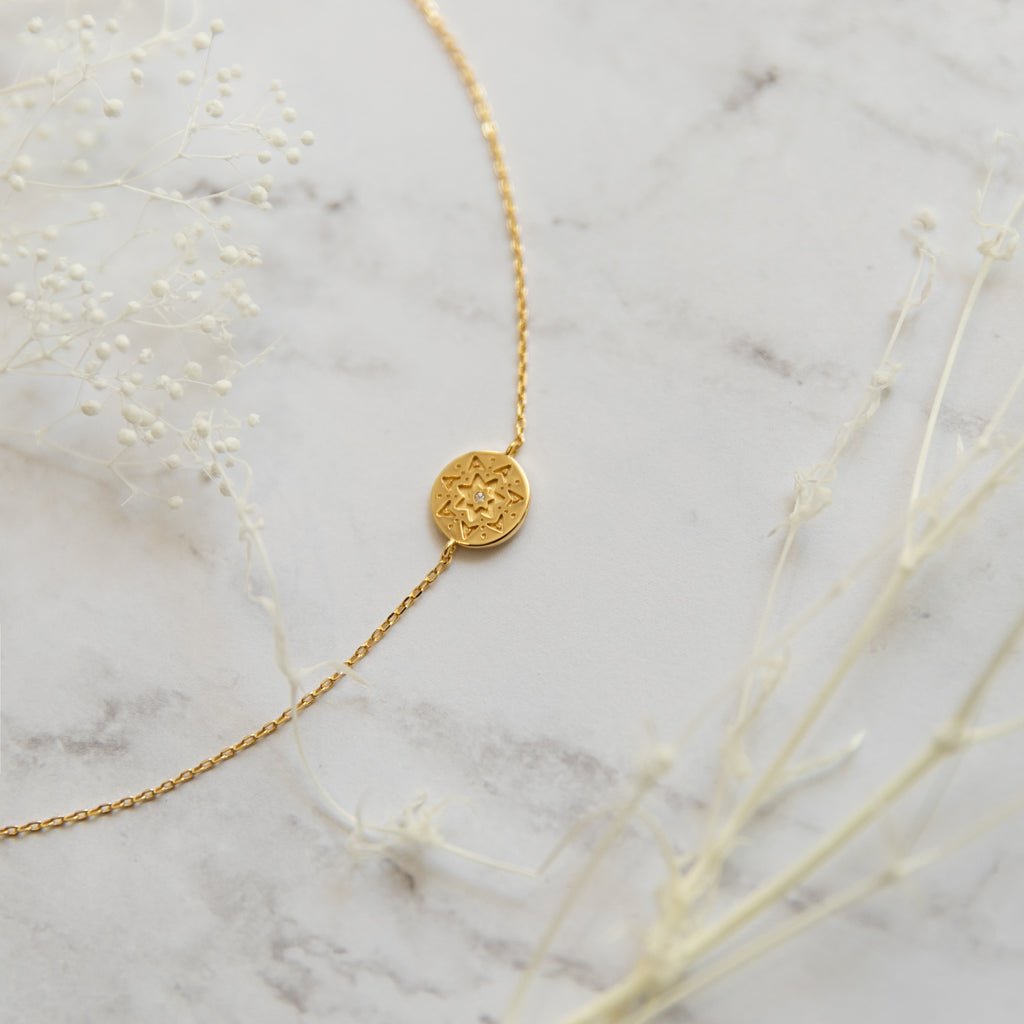 Clementine Medallion Bracelet - She's Unique Jewelry