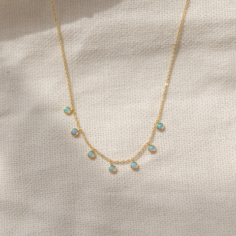 Adriana Opal Drops Necklace - She's Unique Jewelry