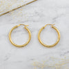 Large Brushed Classic Hoops | 10K - She's Unique Jewelry