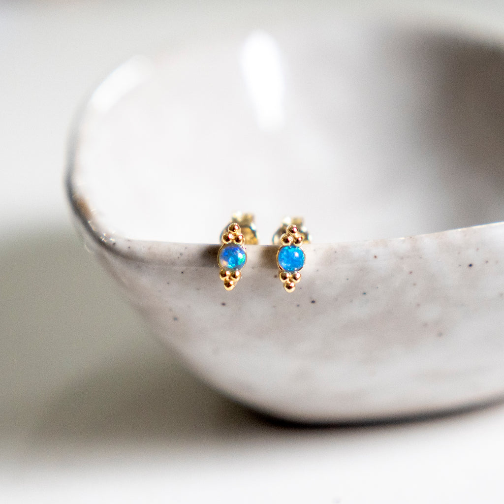 Lily opal stud earrings