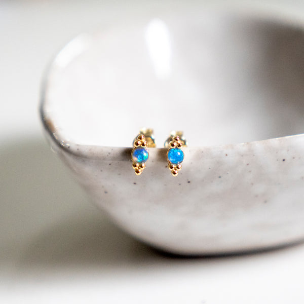 Lily opal stud earrings - She's Unique Jewelry