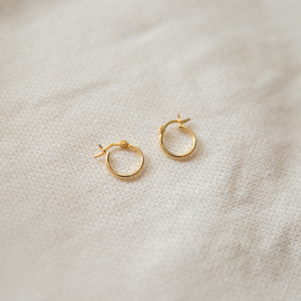 Small Classic Hoop Earrings | Thin - She's Unique Jewelry
