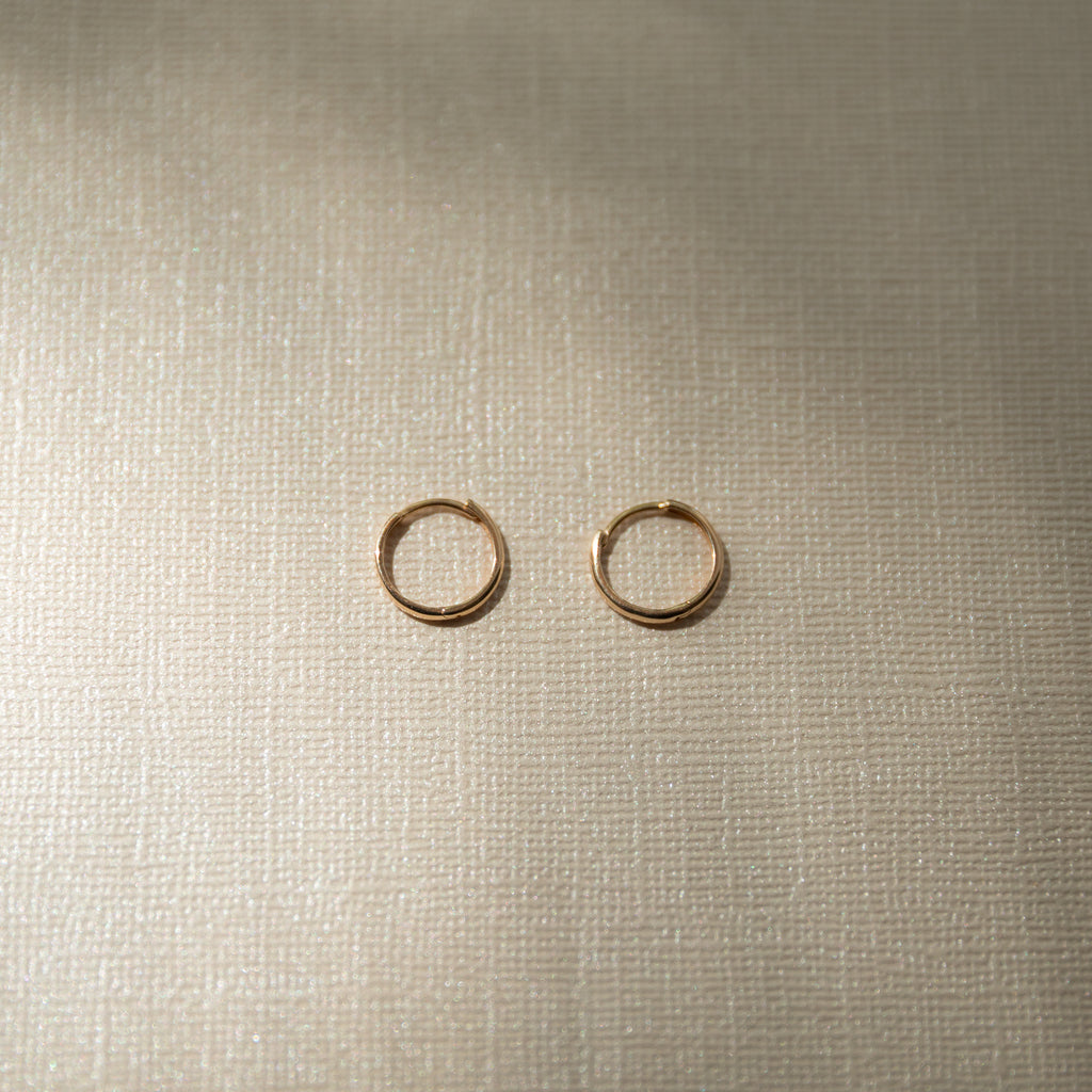 Thin Gold Hoops | 14K - She's Unique Jewelry