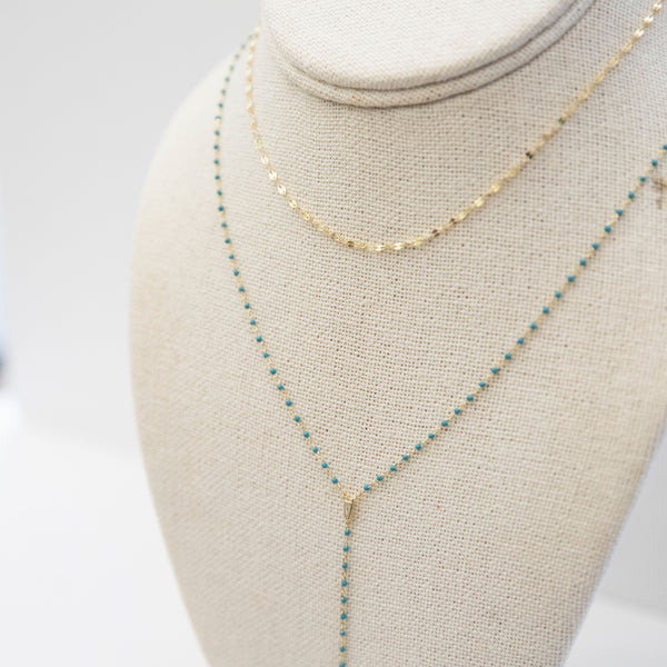 Ellie Lariat Necklace | Enamel - She's Unique Jewelry