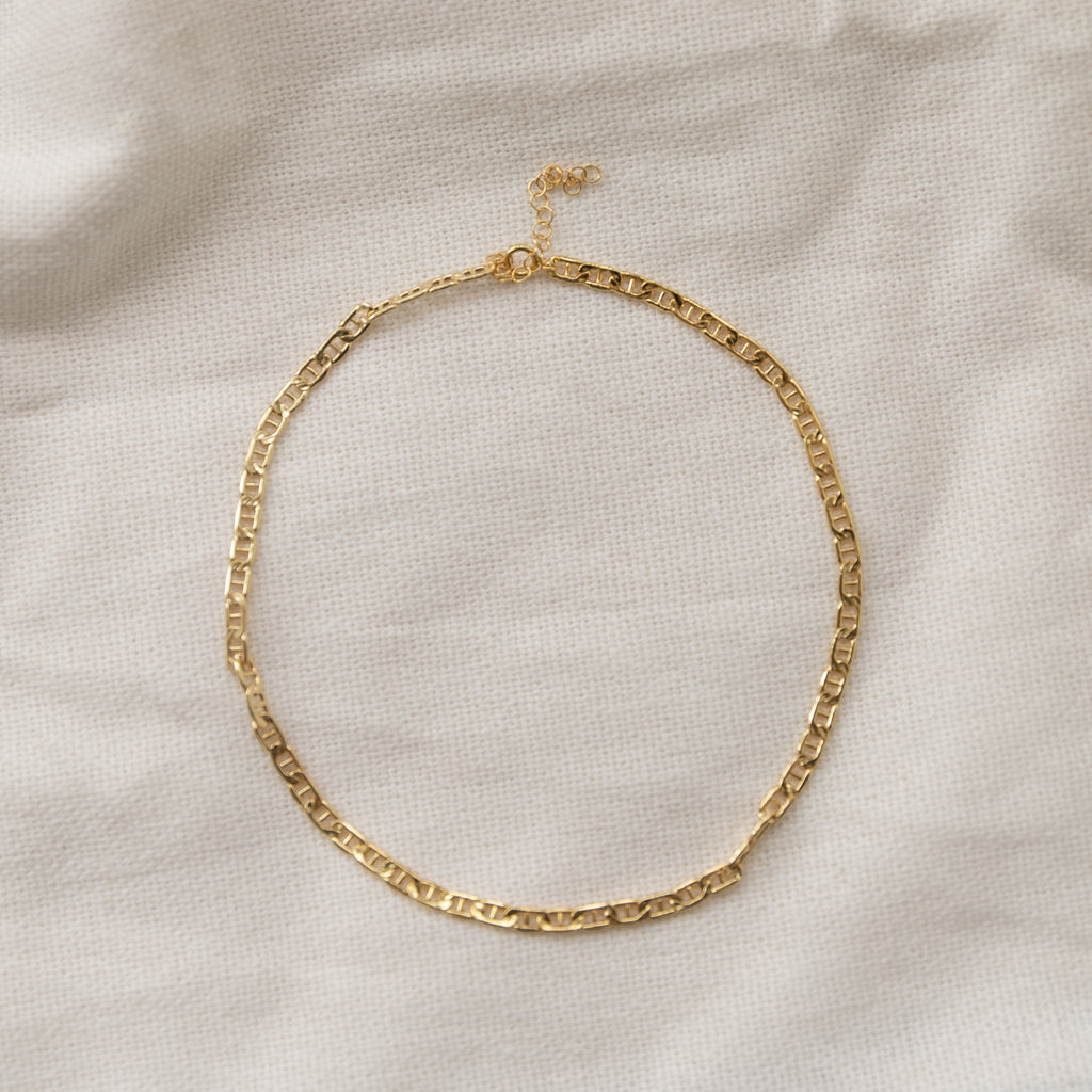 Sloan Anchor Chain Choker - She's Unique Jewelry