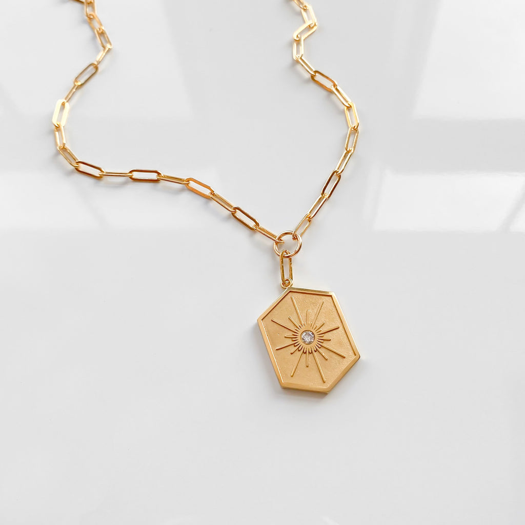 Guiding Star Link Necklace - She's Unique Jewelry