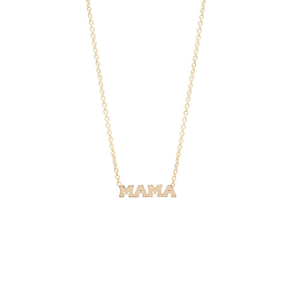 MAMA Necklace | 14K - She's Unique Jewelry