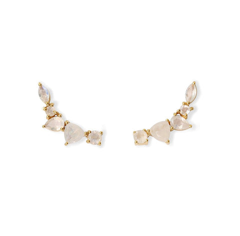 Wing Ear Climbers | Moonstone - She's Unique Jewelry