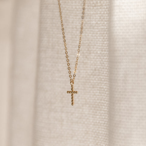 Beaded Cross Necklace - She's Unique Jewelry