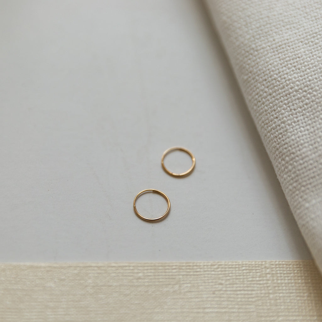 Tiny 14K Gold Hoop Earrings - She's Unique Jewelry