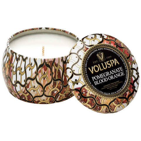 Voluspa | Pomegranate Blood Orange Petite Decorative Candle - She's Unique Jewelry