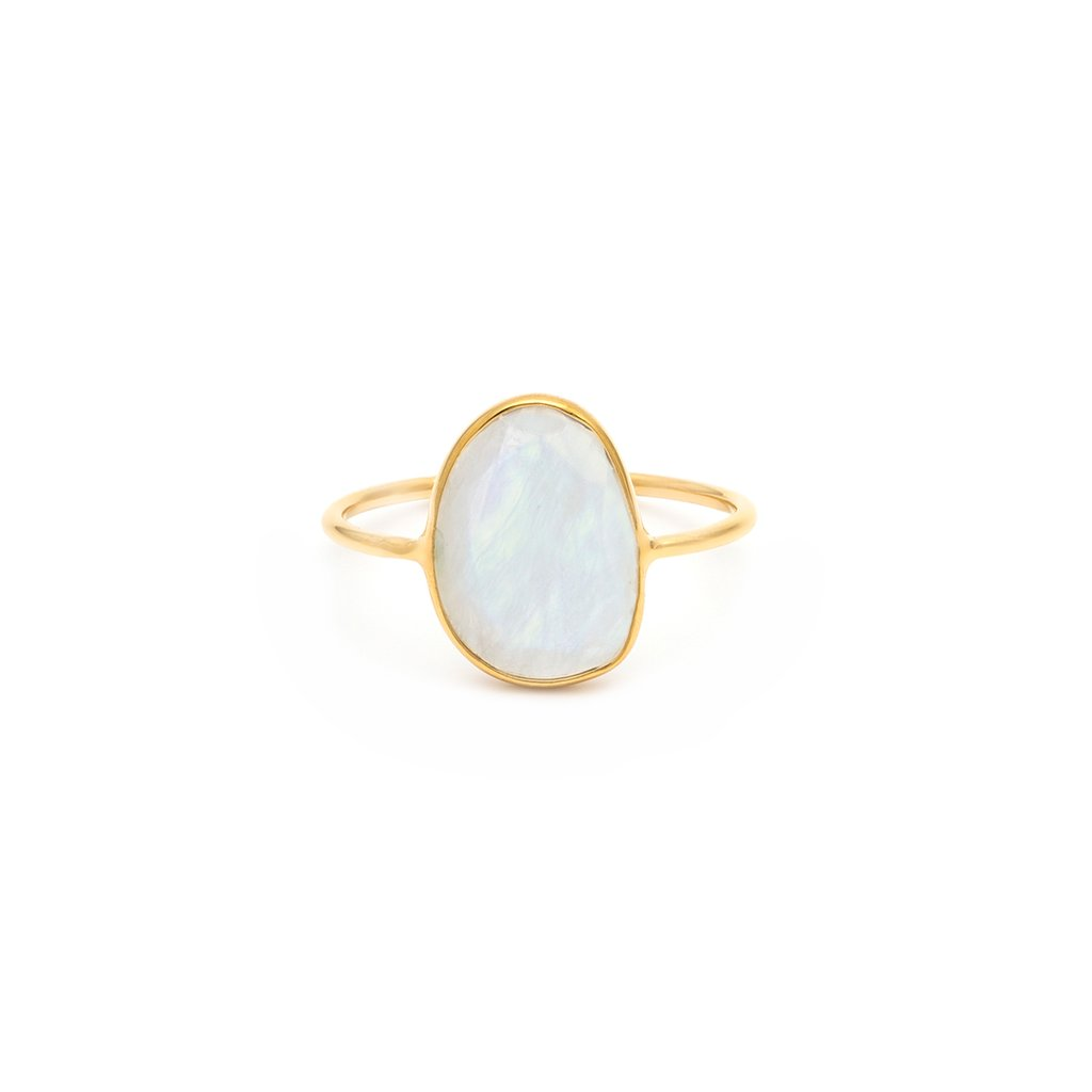 Selena Slice Ring | Moonstone - She's Unique Jewelry