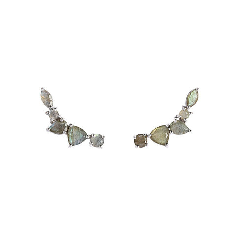 Wing Ear Climbers | Labradorite - She's Unique Jewelry