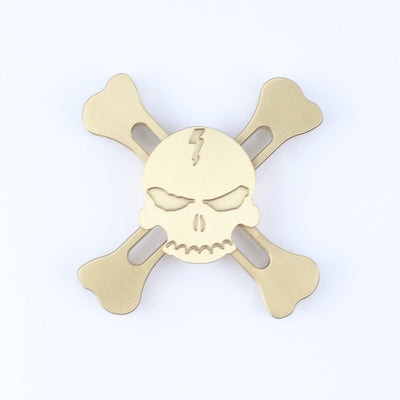 Metal Skull Fidget Spinner - Gold