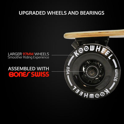 KooWheel Gen 2 D3X Electric Skateboard - Maple Edition Commuter Package