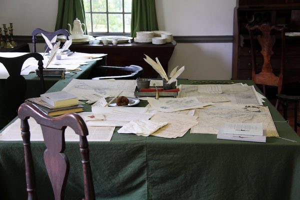Ford Mansion writing desks at Morristown National Historical Park