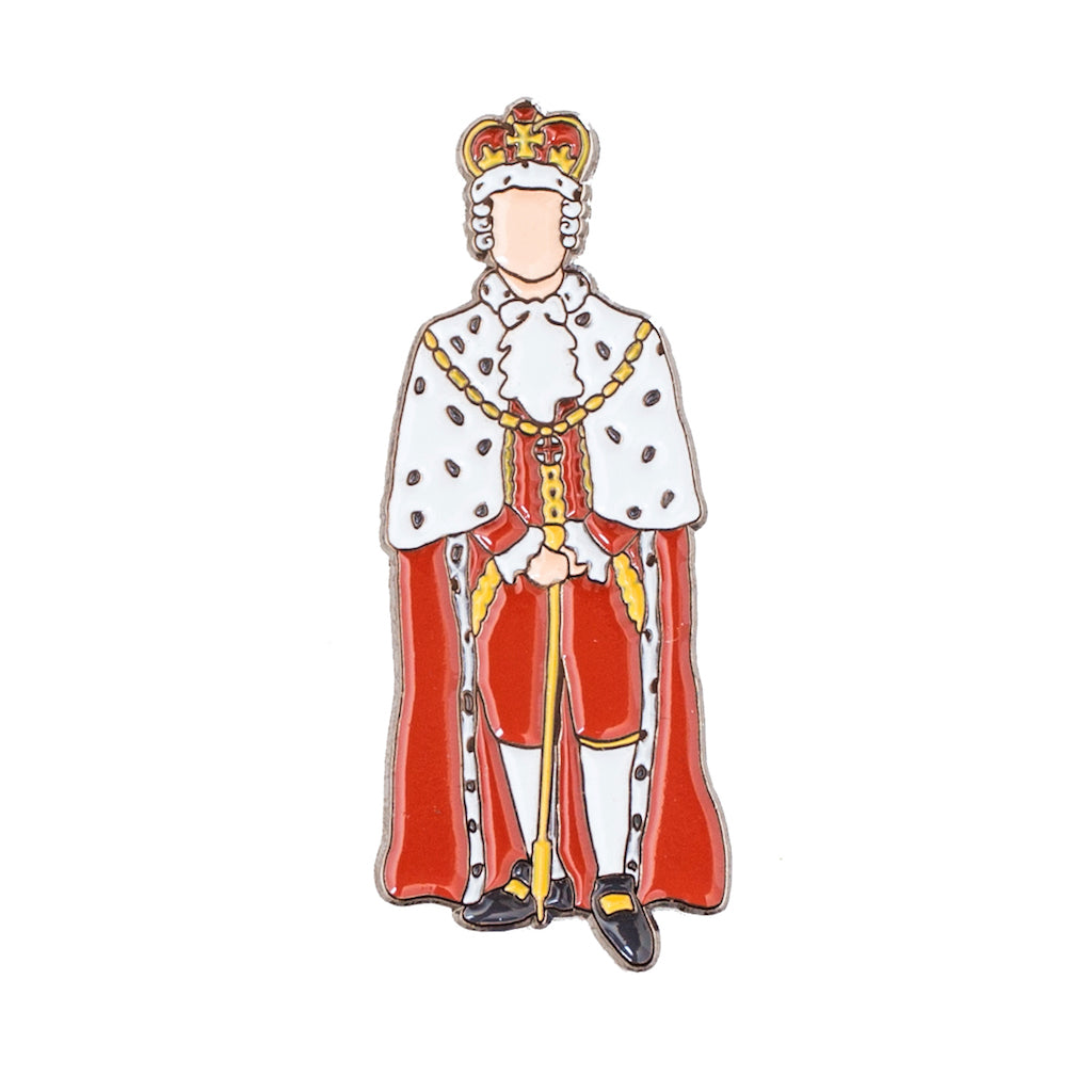 Hamilton King George Enamel Pin | The Casey BarberSHOP | shop.caseybarber.com
