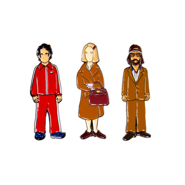 Royal Tenenbaums Enamel Pins | The Casey BarberSHOP | shop.caseybarber.com