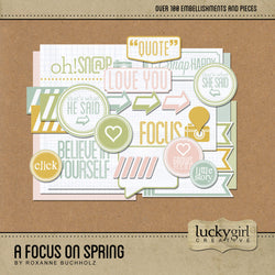 A Focus on Spring Digital Scrapbook Kit by Lucky Girl Creative