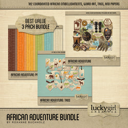 African Adventure Discounted Bundle by Lucky Girl Creative