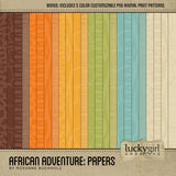 African Adventure Papers Digital Scrapbook Kit by Lucky Girl Creative