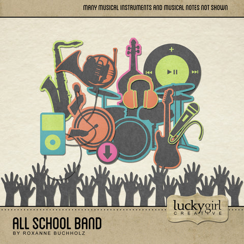 All School Band Digital Scrapbook Kit by Lucky Girl Creative