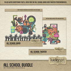 All School Digital Scrapbook Kit by Lucky Girl Creative