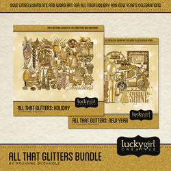 All That Glitters Discounted Bundle Digital Scrapbook Kit by Lucky Girl Creative