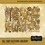 All That Glitters Holiday Digital Scrapbook Kit by Lucky Girl Creative