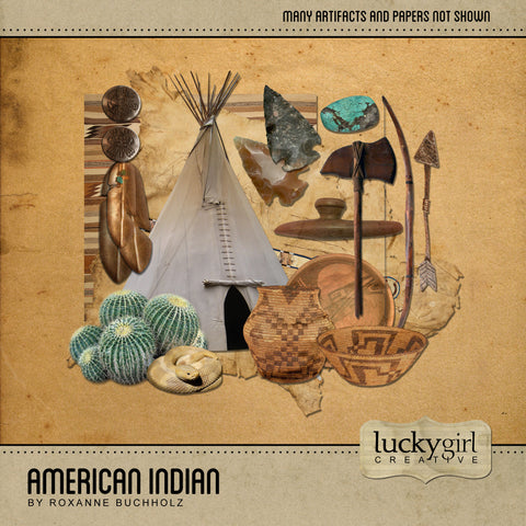American Indian Digital Scrapbook Kit by Lucky Girl Creative