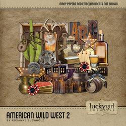 American Wild West 2 Digital Scrapbook Kit by Lucky Girl Creative