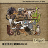American Wild West 3 Digital Scrapbook Kit by Lucky Girl Creative