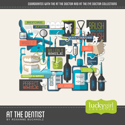 At the Dentist Digital Scrapbook Kit by Lucky Girl Creative