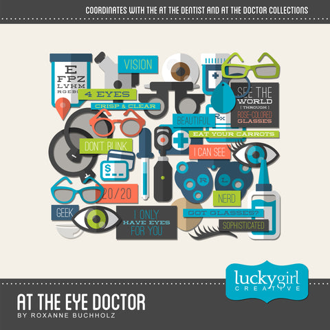 At the Eye Doctor Digital Scrapbook Kit by Lucky Girl Creative